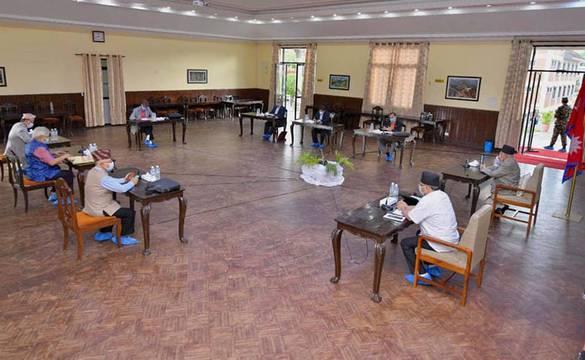 नेकपा बैठक सकियो, मन्त्रिपरिषद् पुनर्गठनमा छलफल नै भएन